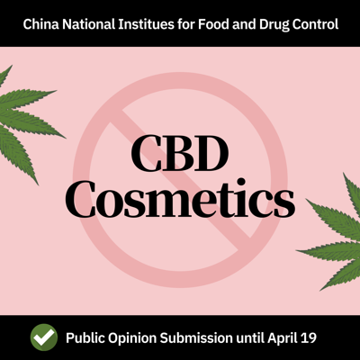 CBD cosmetics may be banned or regulated in the Chinese market
